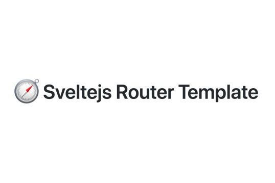 Sveltejs Router Template