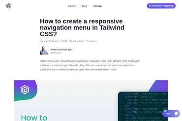 Create A Responsive Navigation Menu In Tailwind CSS