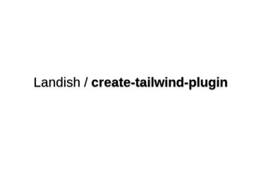 Create-tailwind-plugin