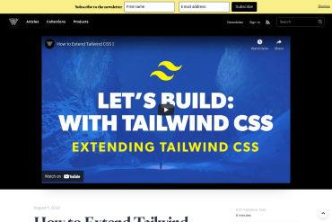 Extend Tailwind CSS