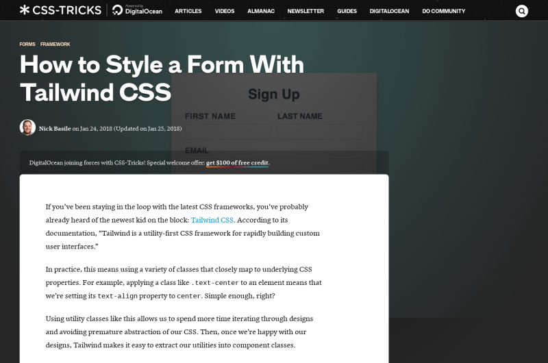 Forms With Tailwind CSS