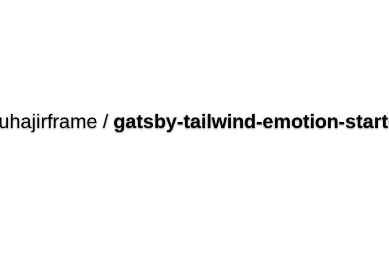 Gatsby Starter + Emotion JS