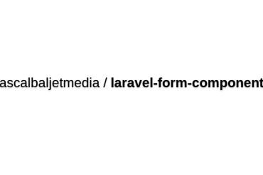 Laravel Form Components