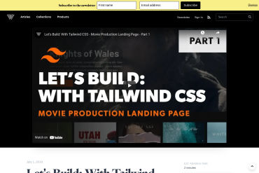 Let's Build: Movie Production Landing Page