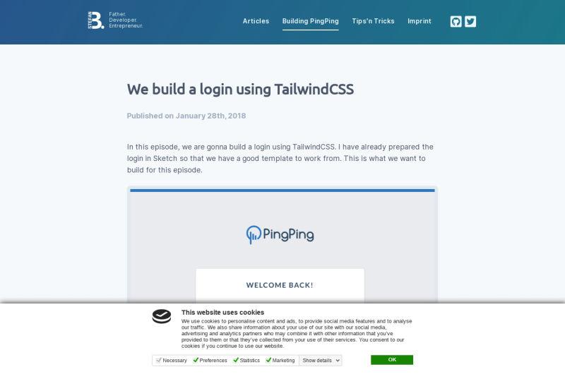 Login Page (PingPing)