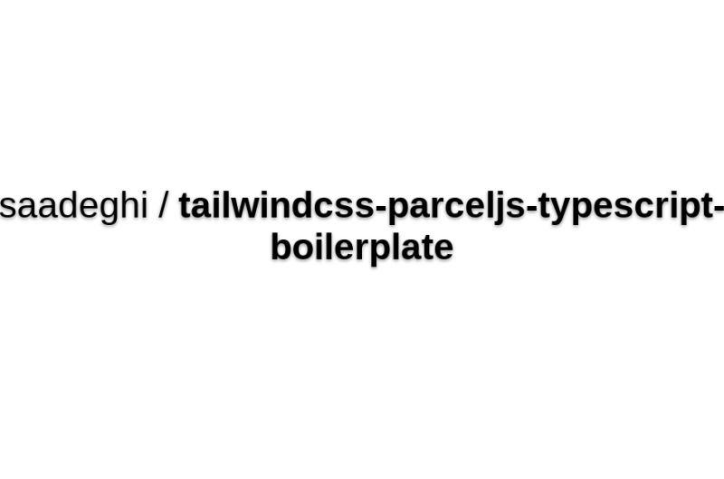 ParcelJS + TypeScript Boilerplate