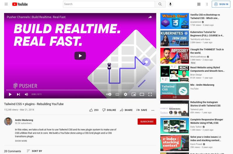 Rebuilding YouTube