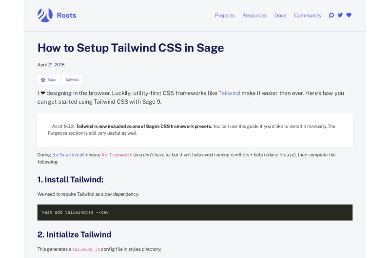 Sage WordPress Theme And Tailwind CSS
