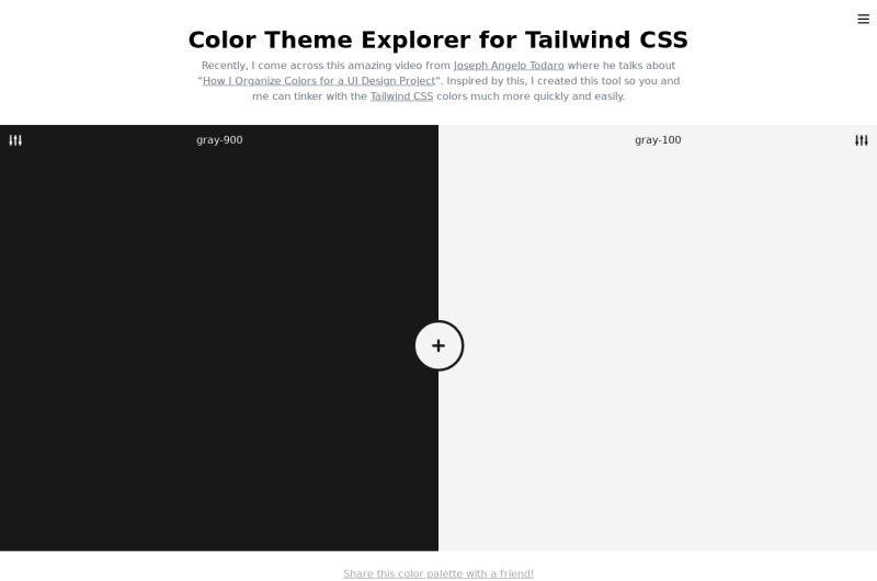 Tailwind Color Explorer