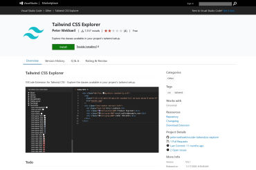 Tailwind CSS Explorer For Code