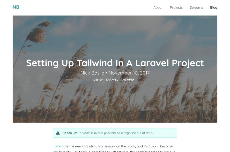 Tailwind CSS In A Laravel Project
