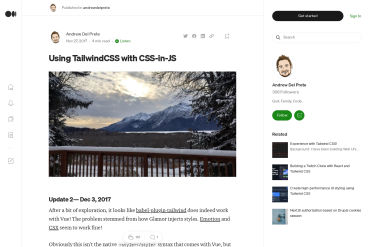 Tailwind CSS With CSS-in-JS