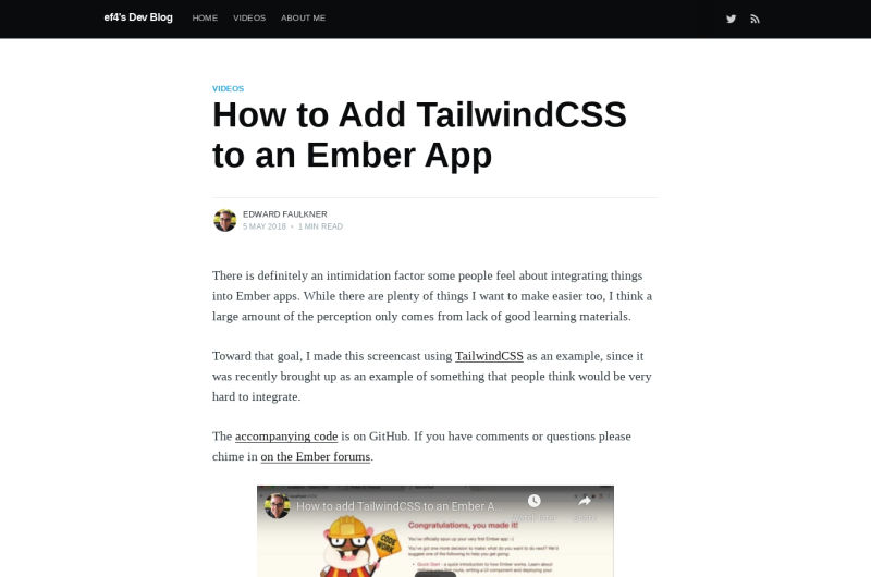Tailwind CSS With Ember