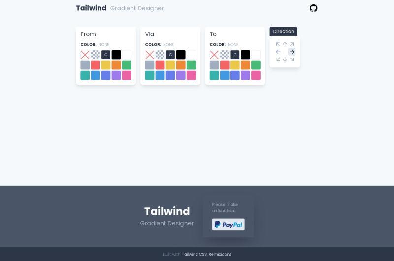 Tailwind Gradient Designer