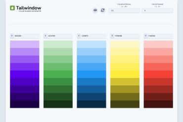Tailwindow's Color Shades