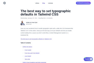 Typographic Defaults In Tailwind CSS