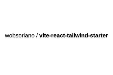 Vite + React + Tailwind Starter