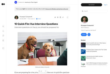 10 Quick-Fire Vue Interview Questions