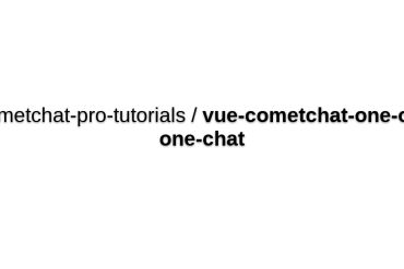 A One-on-one Chat App In Vue With CometChat