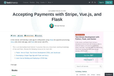 Accepting Payments With Stripe, Vue.js, And Flask