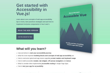 Accessible Vue – Get Started With Accessibility In Vue.js!