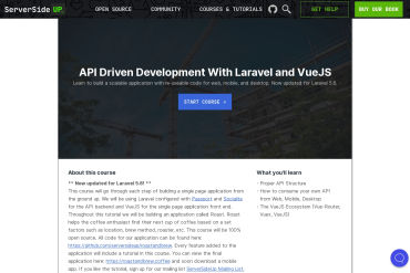 API Driven Development With Laravel And VueJS (Free Course)
