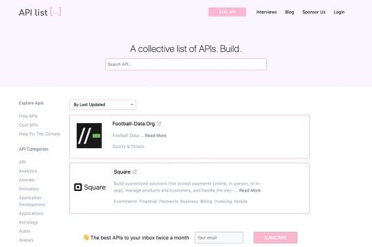 API List