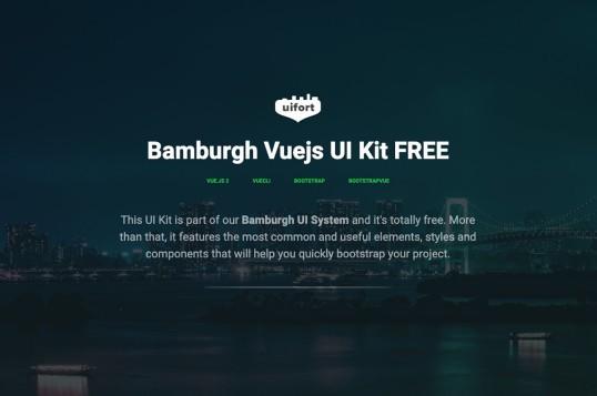 Bamburgh Vue.js UI Kit