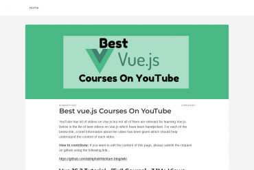 Best Vue.js Courses On YouTube