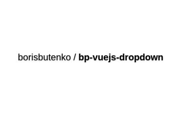 Bp-vuejs-dropdown
