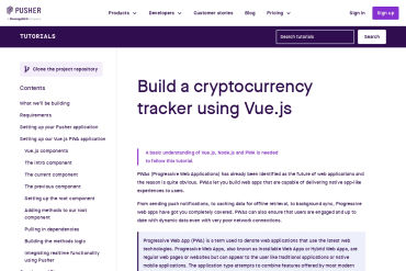 Build A Cryptocurrency Tracker Using Vue.js