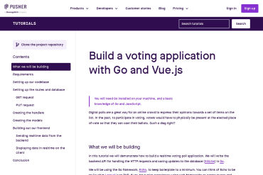 Build A Voting Application With Go And Vue.js