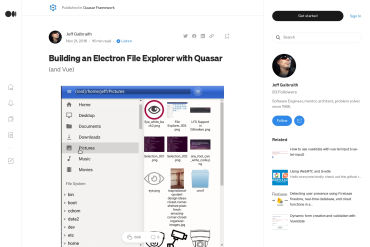 Building An Electron File Explorer With Quasar (and Vue)