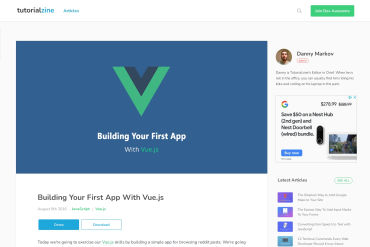 Building Your First App With Vue.js
