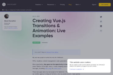 Creating Vue.js Transitions & Animation: Live Examples