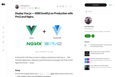 Deploy Vue.js—SSR(Vuetify) On Production With Pm2 And Nginx