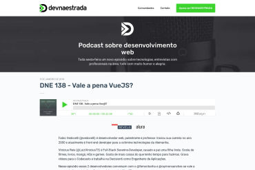 DNE 138 - Vale A Pena VueJS? (01-05-2018)