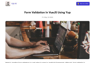 Form Validation In VueJS Using Yup