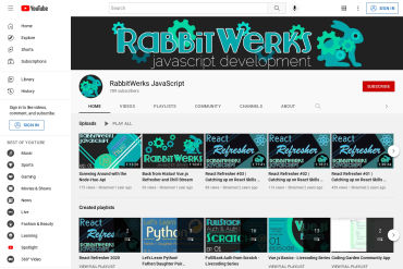 Frontend And Fullstack VENM-stack Coding Tutorials By RabbitWerks JavaScript