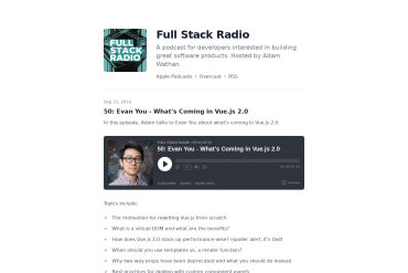 Full Stack Radio #50 (09-21-2016)