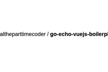 Go-echo-vuejs-boilerplate