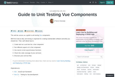 Guide To Unit Testing Vue Components