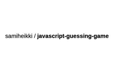 JavaScript Guessing Game