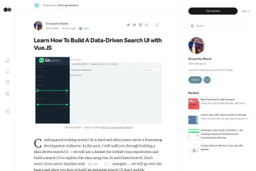 Learn How To Build A Data-Driven Search UI With Vue.JS