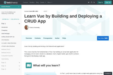 Learn Vue By Building And Deploying A CRUD App