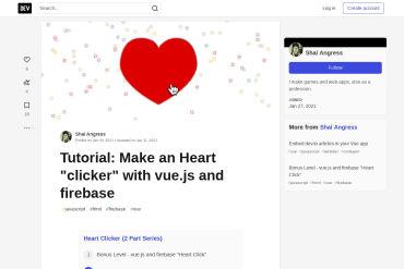Make An Heart Clicker With Vue.js And Firebase
