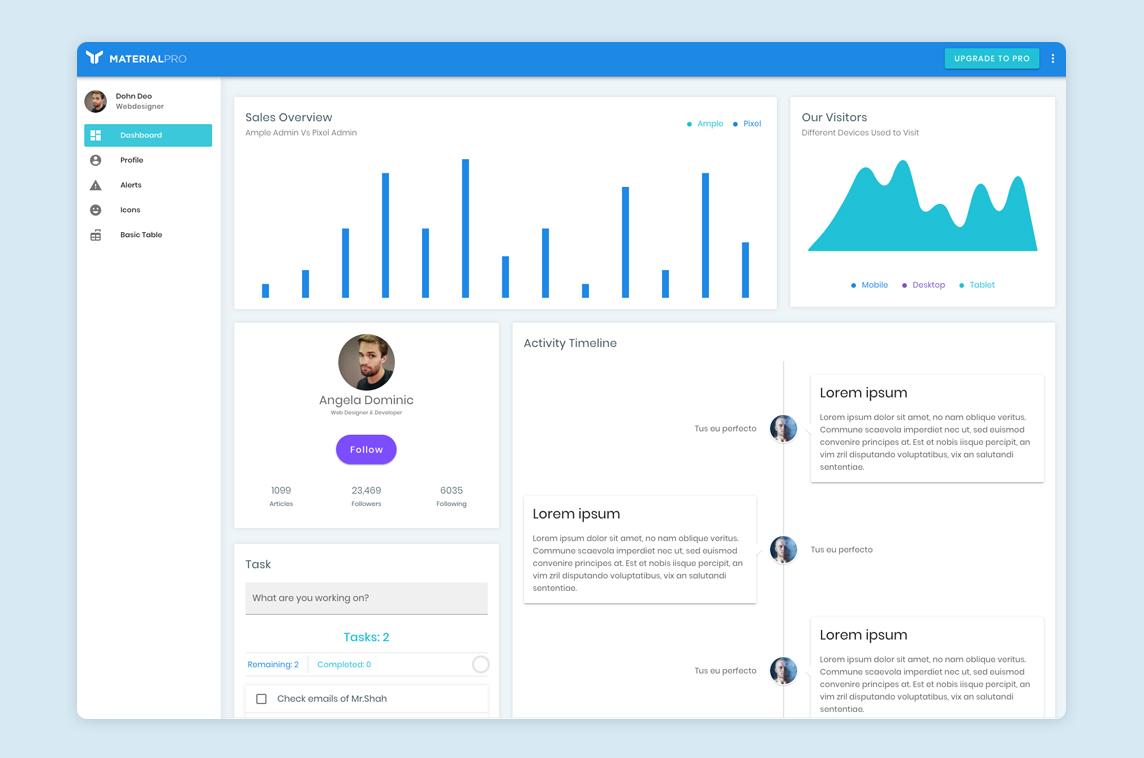 MaterialPro Vuetify Admin Lite