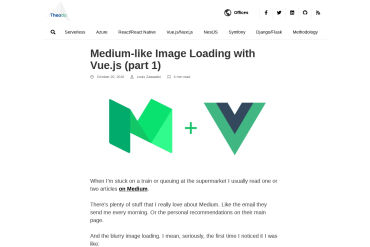 Medium Like Image Loading With Vue.js