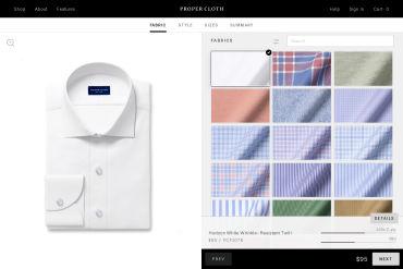 Proper Cloth Shirt Builder