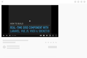 Real-time Grid Component Laravel, Vue.js, Vuex & Socket.io